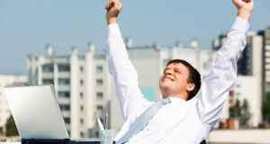 sretan poslovni čovjek