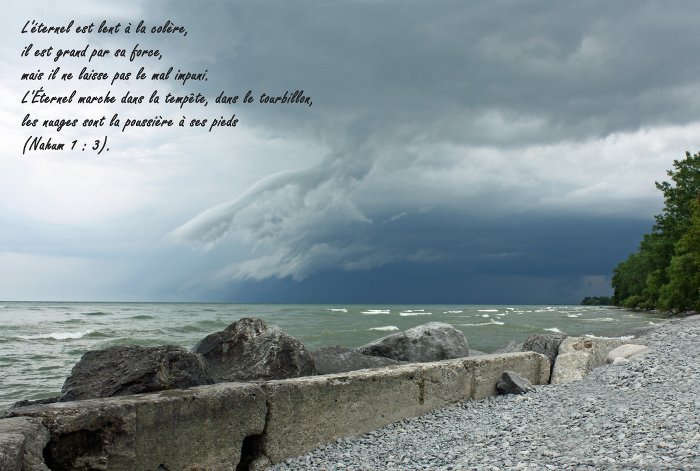 Loving with opened eyes - His way is in whirlwind and storm (Nahum 1:3)