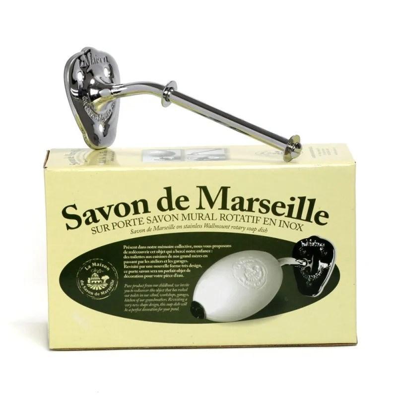 porte savon mural acier inoxydable savon