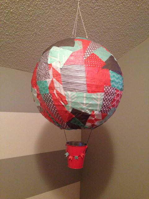 DIY Patchwork Hot Air Balloon