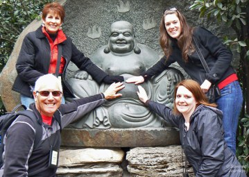 Carole, Steve, Sarah and me in China