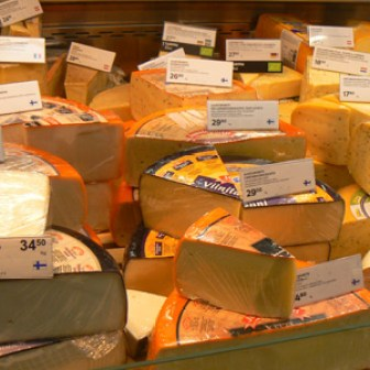 Stockmann's cheese selection