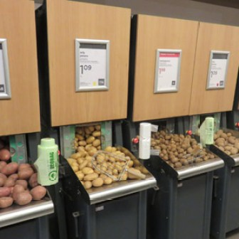 The potato aisle - yes I took a picture of it!