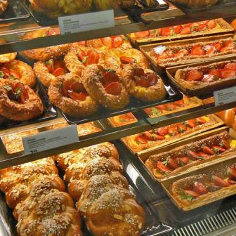 Pastries from the bakery section