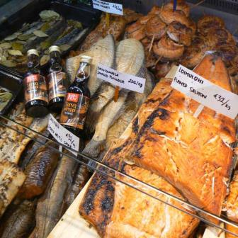 Grilled fish section