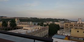 The view from the rooftop terrace bar at Ambos Mundos.