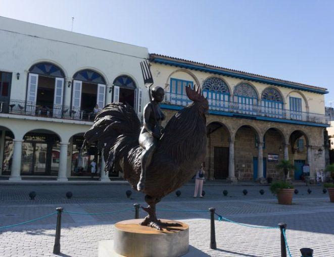 """Bronze sculpture """"Viaje Fantastico"""" by Roberto Fabelo"""