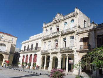 Restored facades of Plaza Vieja - a close representation of their former glory.