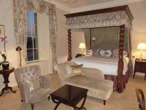 The Grand Suite room at Lucknam Park is quite luxurious.