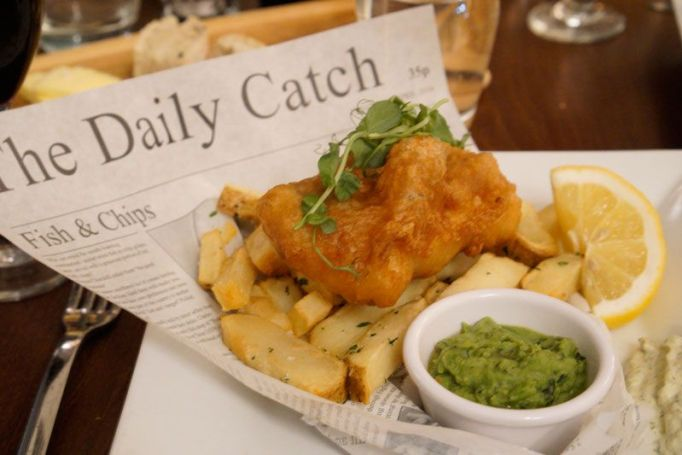 The Fish & Chips from the restaurant at Fistral Beach Hotel