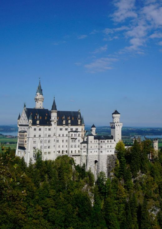 Neuschwanstein Castle in the Bavarian countryside of Germany