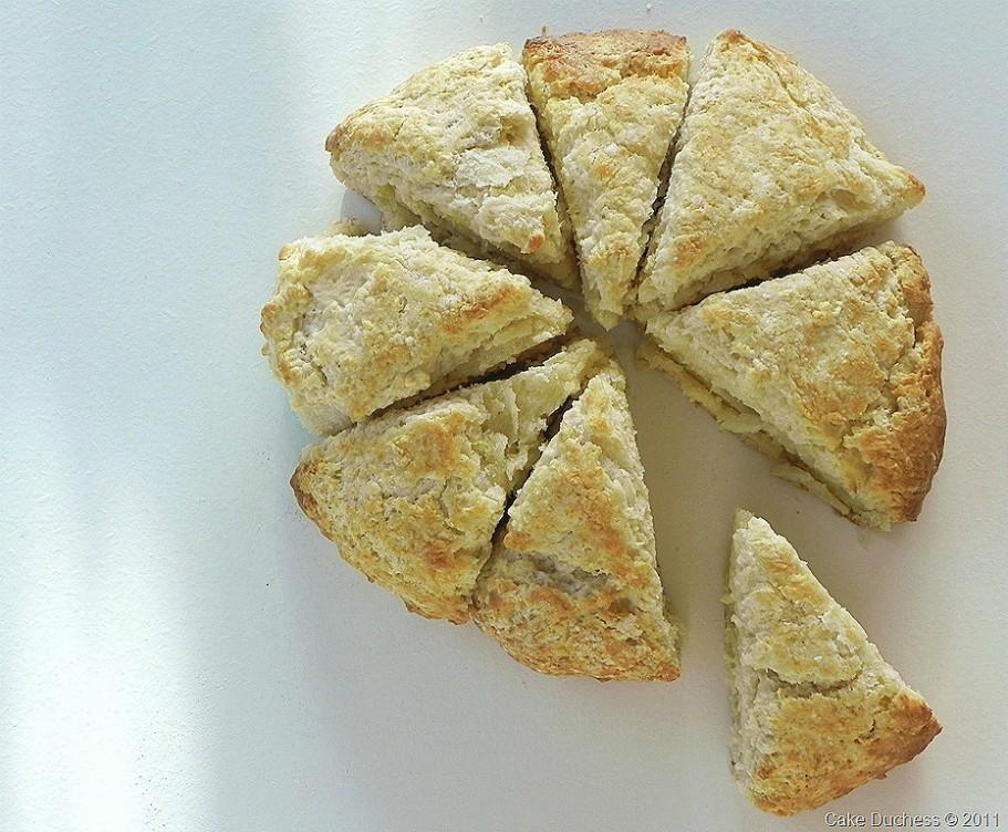 overhead image of authentic scottish scones