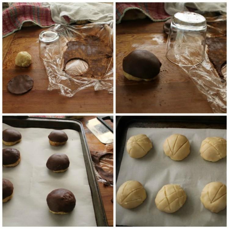 overhad image of making pan dulce