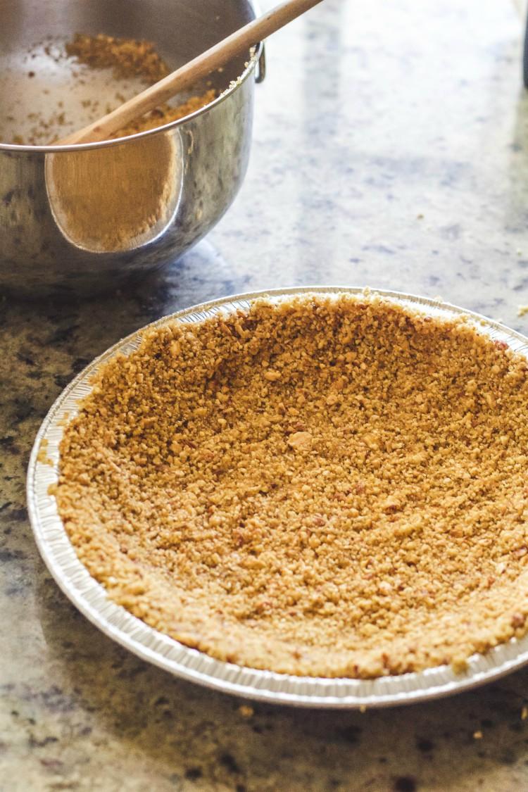 overhead image of making pie crust