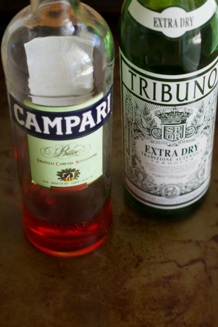 image of Campari and vermouth bottles