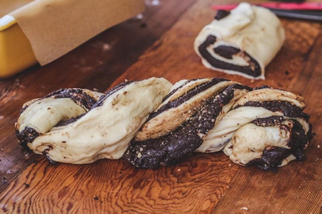 image of making chocolate babka