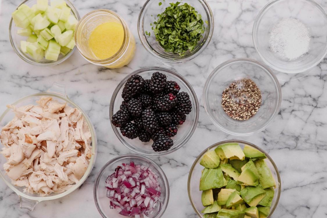 image of making chicken avocado salad