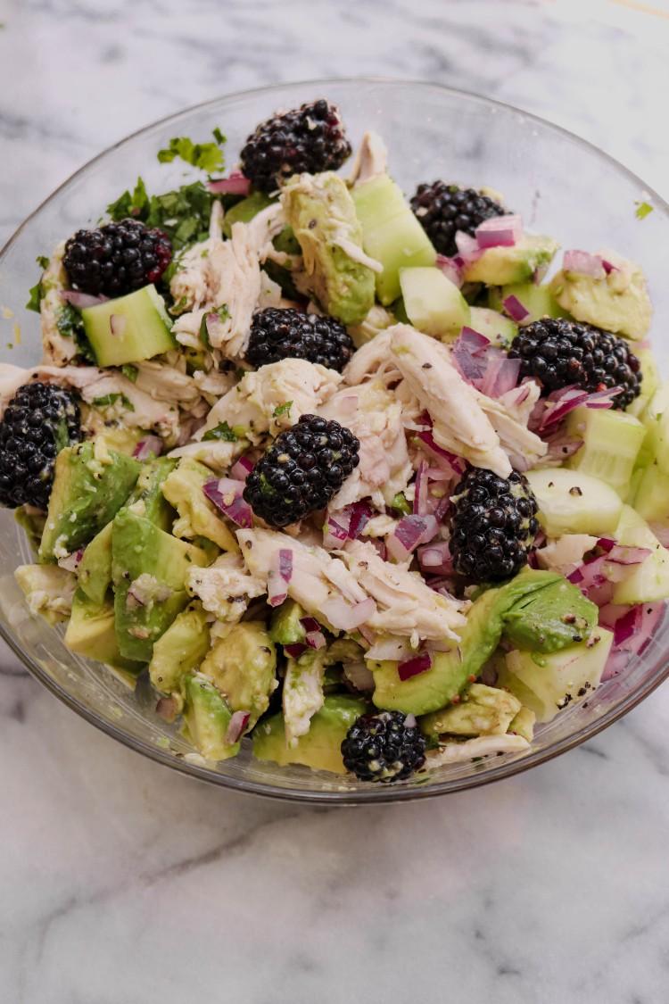 image of chicken avocado salad