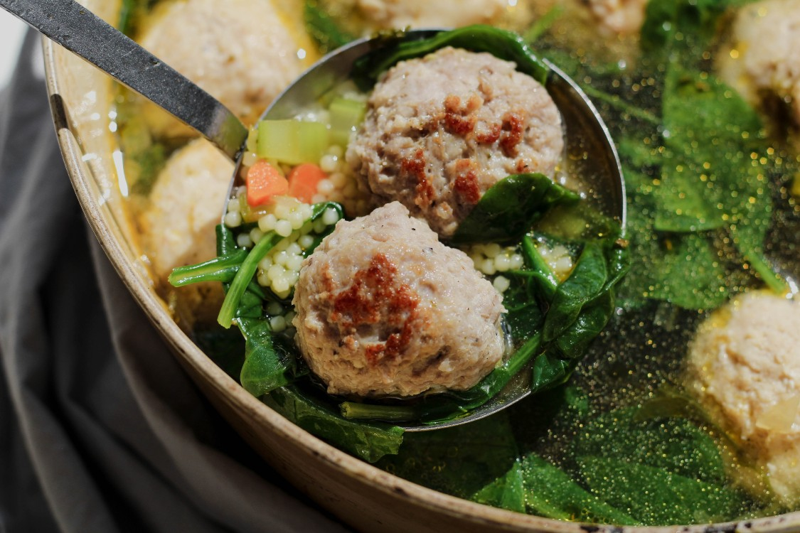 image of meatballs in a soup