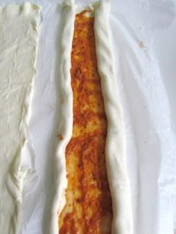 making puff pastry pinwheels | www.savormania.com