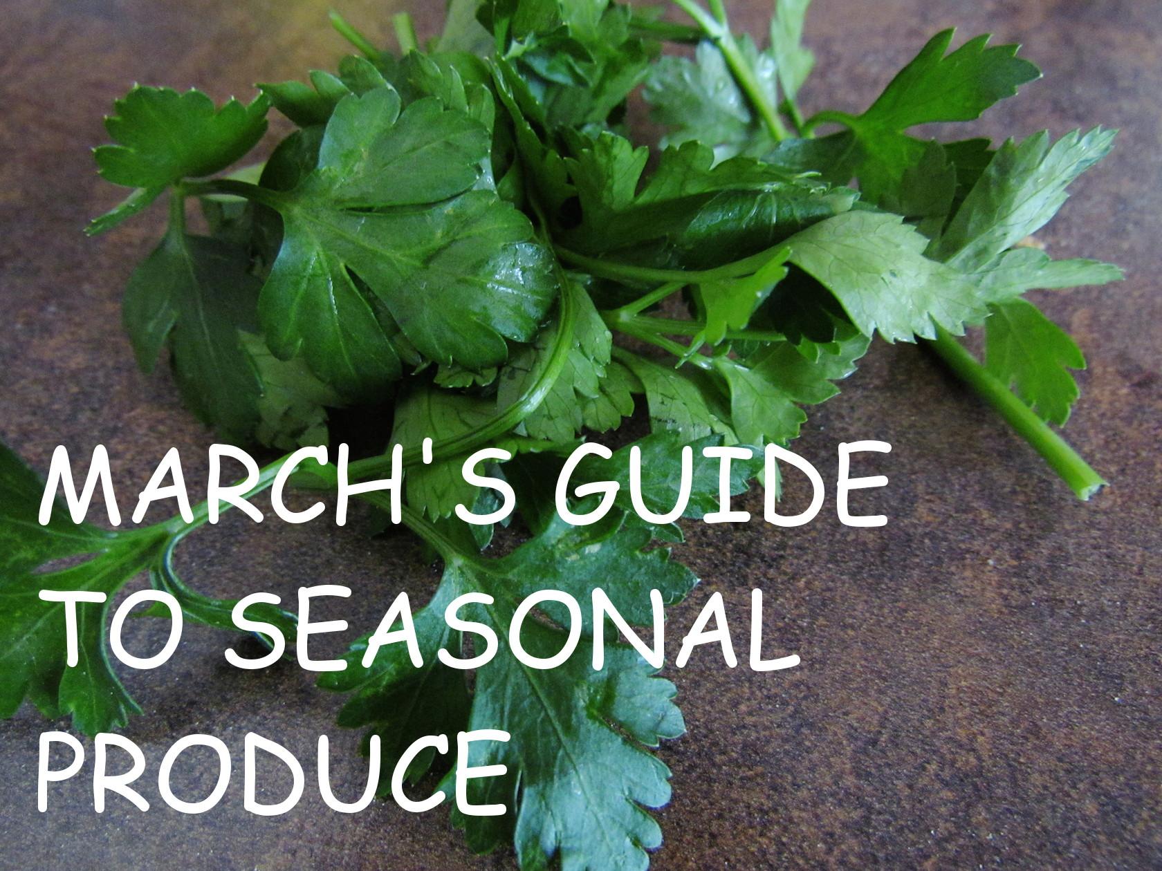 seasonal produce guide for switzerland: march