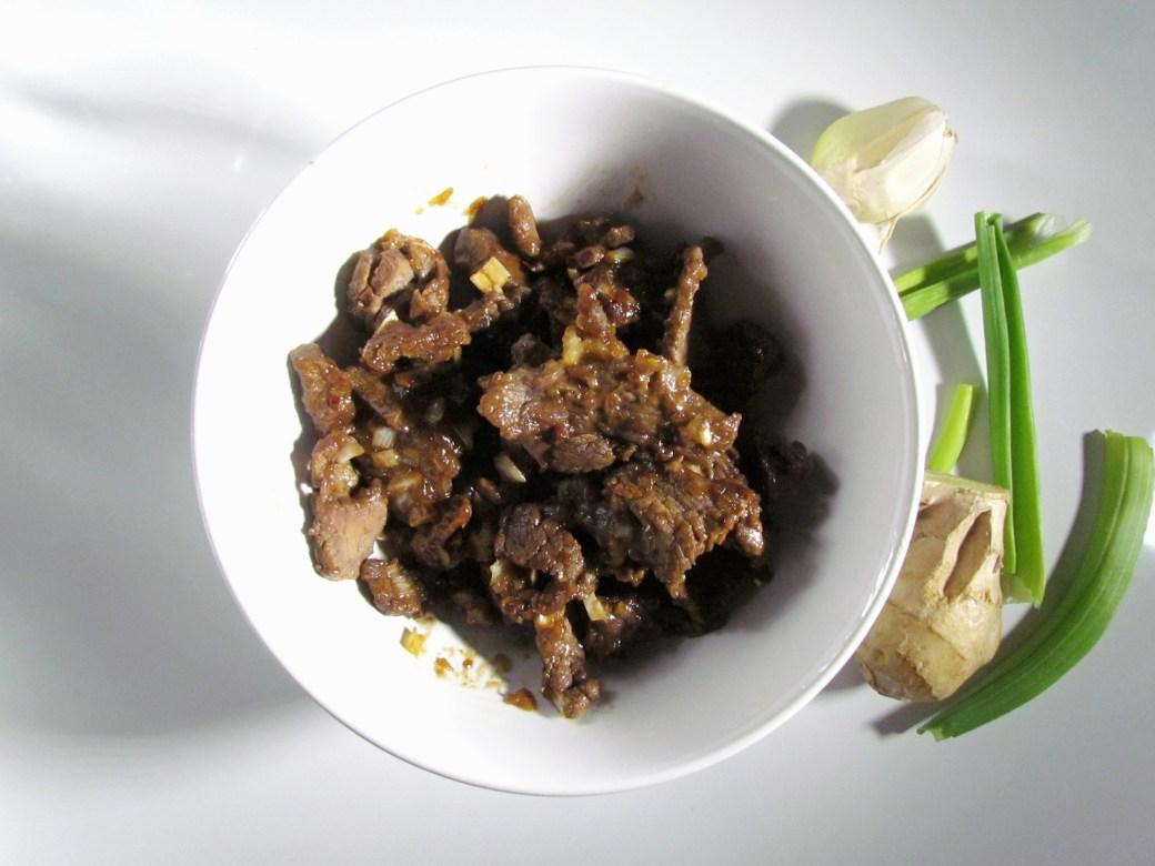stir-fried ginger beef
