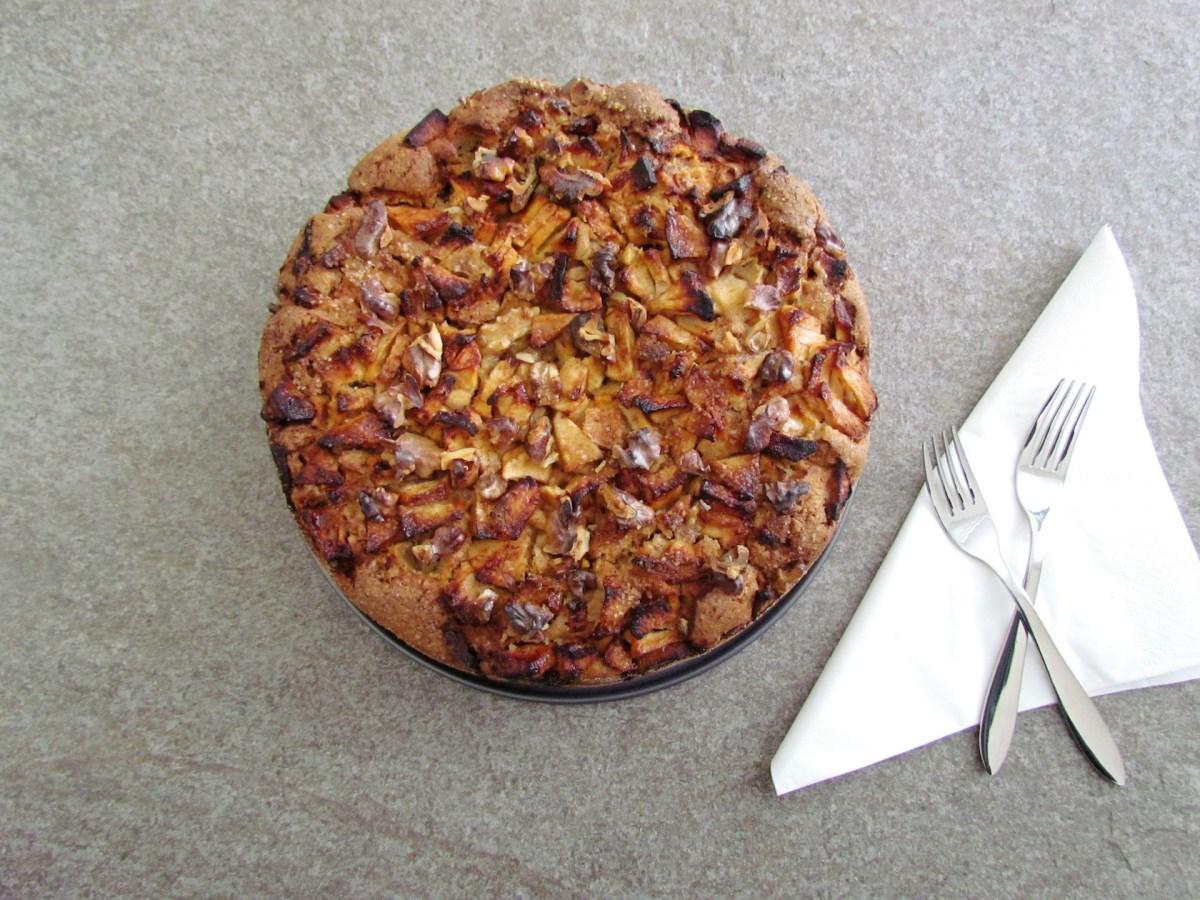 Passover apple and walnut cake
