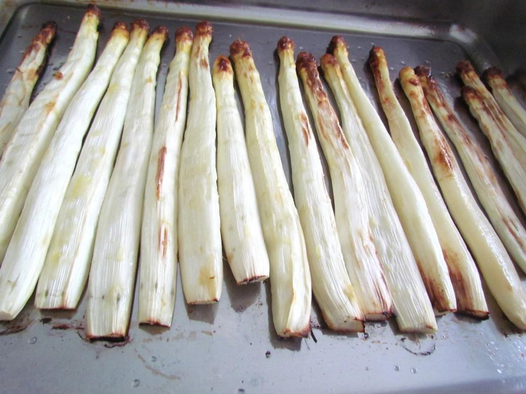 roasted white asparagus