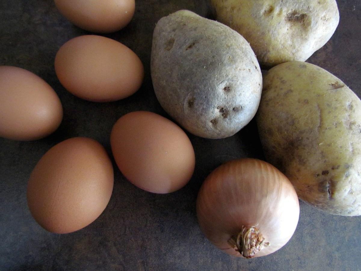 ingrédients tortilla espagnole aux pommes de terre