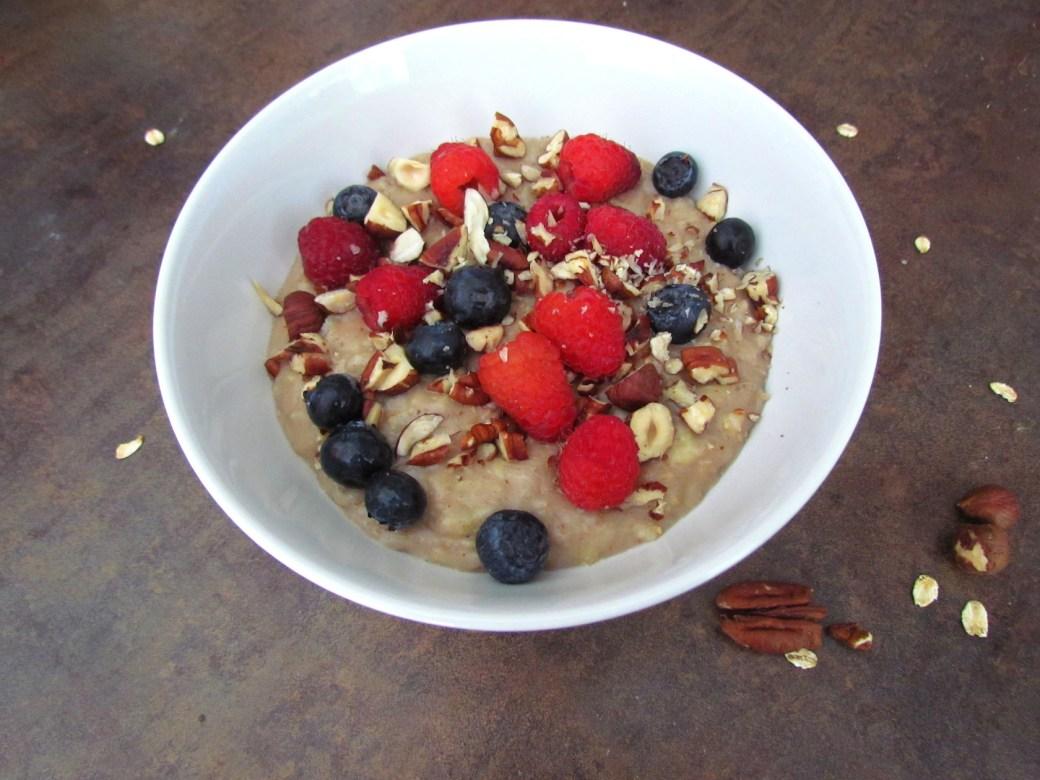 porridge aux flocons d'avoine et à la noix de coco