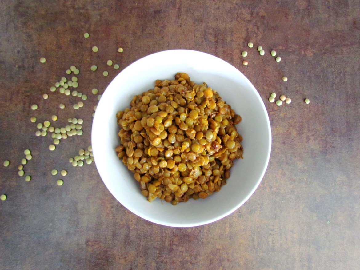 cumin-spiced green lentils