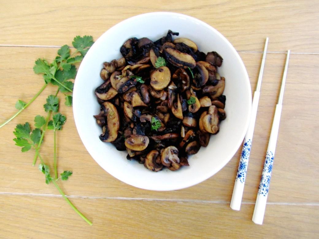champignons sautés à l'asiatique