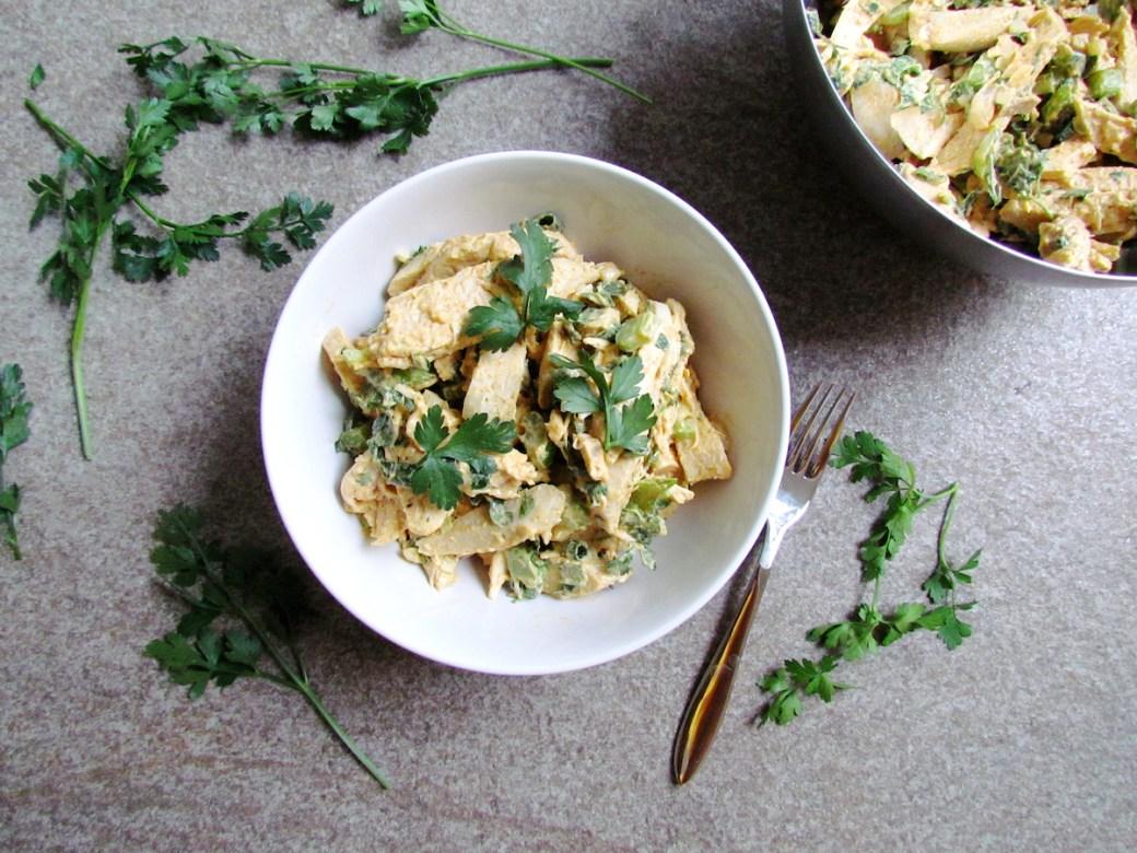 chicken celery salad with spiced mayonnaise | www.savormania.com