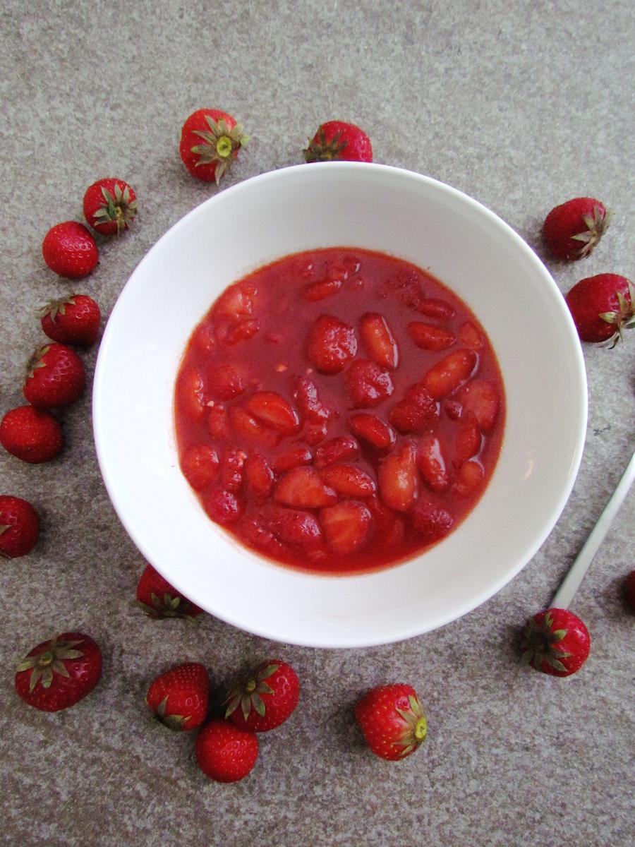 compote à la fraise et vanille