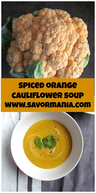 spiced orange cauliflower soup   www.savormania.com