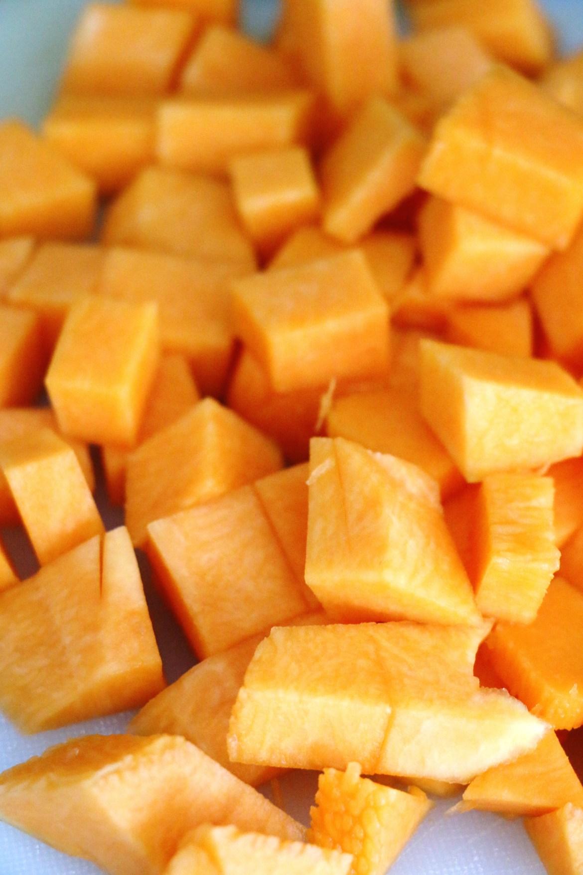 cubed pumpkin | www.savormania.com