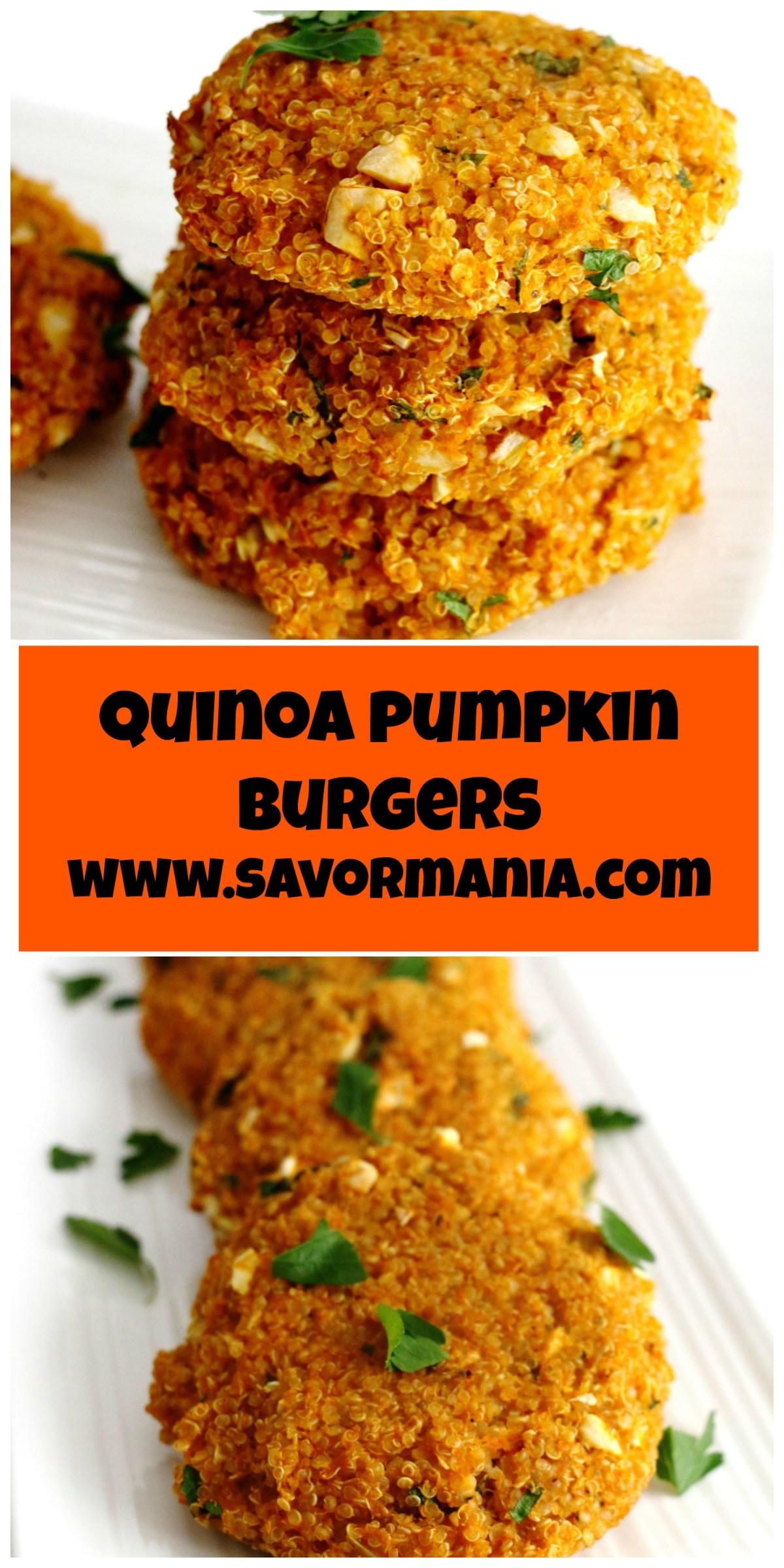 quinoa pumpkin burgers
