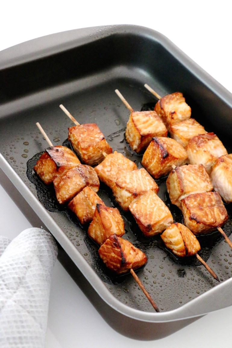 salmon teriyaki skewers | www.savormania.com
