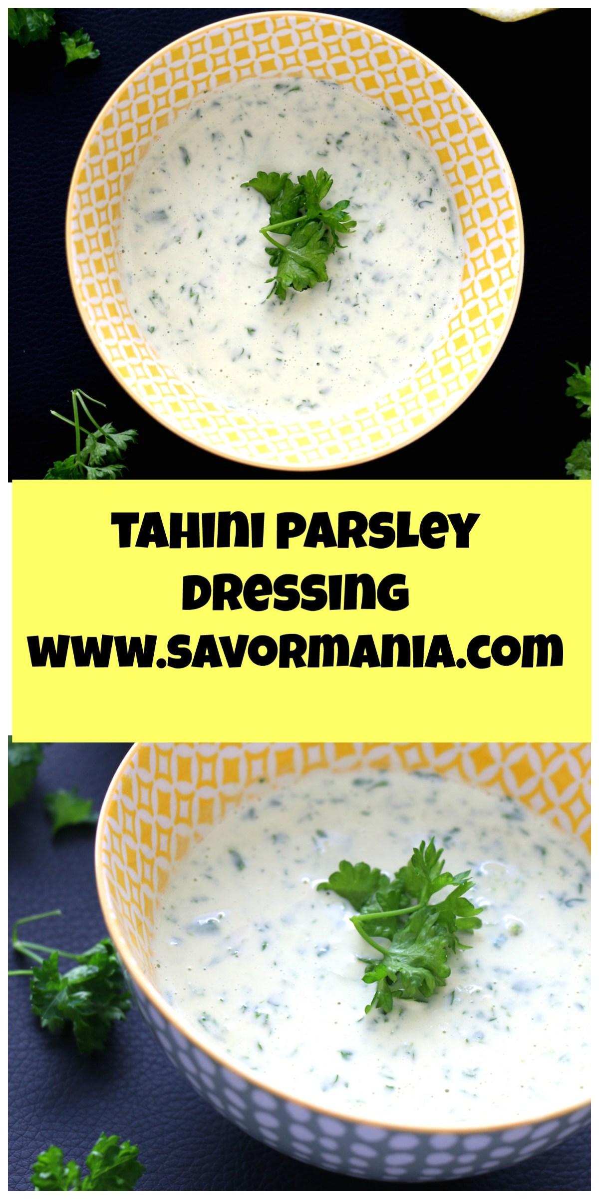 tahini parsley sauce| www.savormania.com
