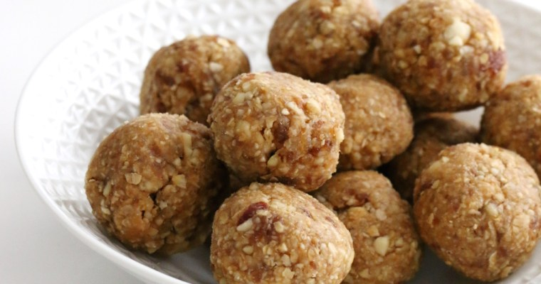 cashew peanut butter energy balls (+ big news!)