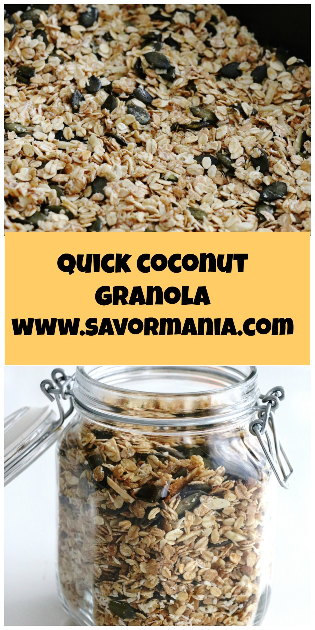 quick coconut granola   www.savormania.com