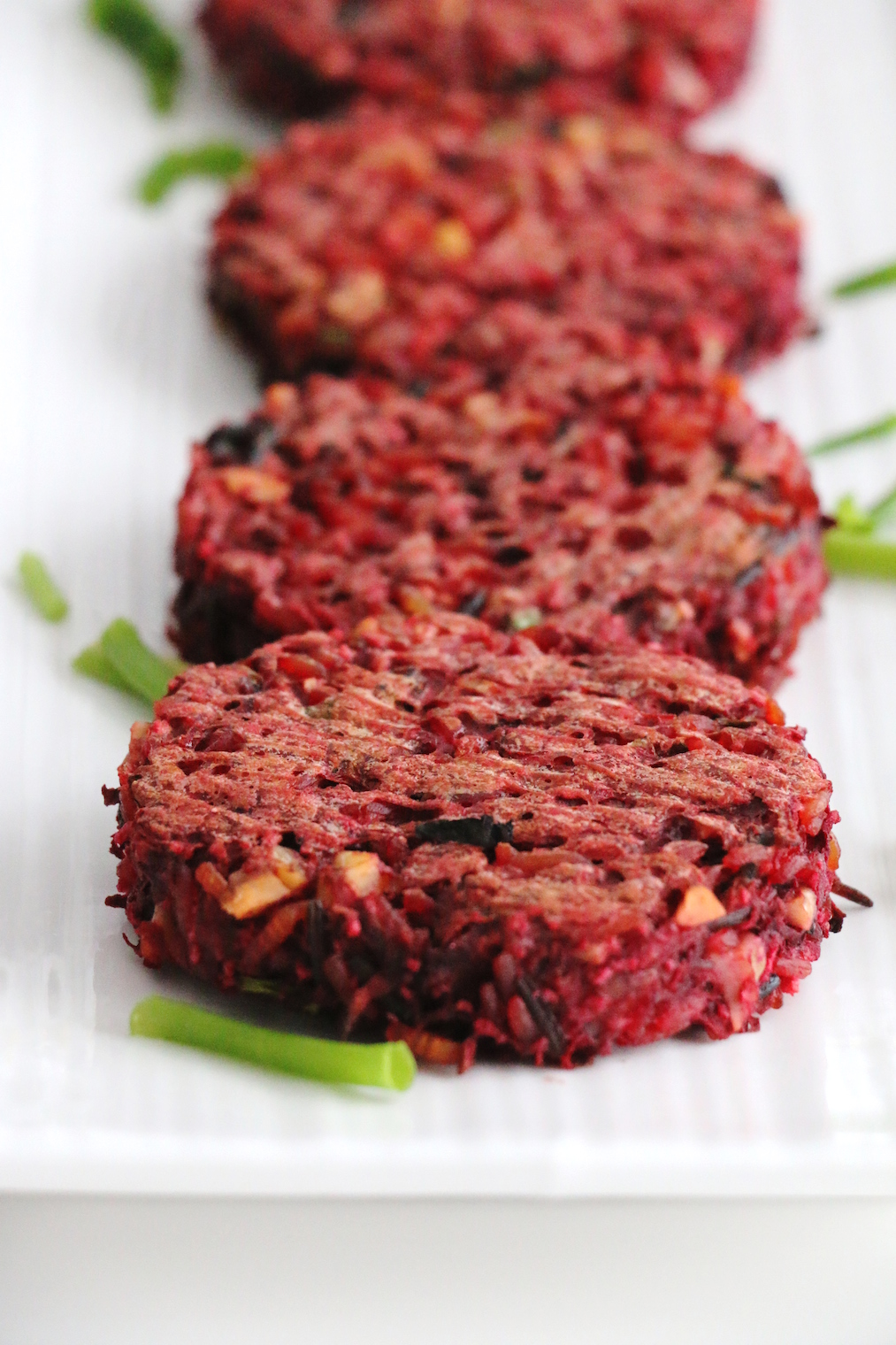 beet and wild rice burgers