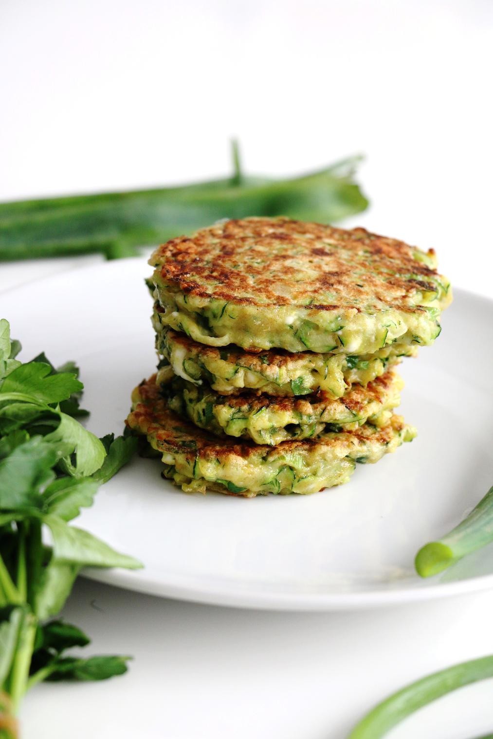 savory zucchini feta pancakes