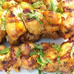 Chicken Pinchos | Enjoy these delicious tender grilled meats on a skewer! Perfect for summer BBQ's | SavorParadise.com