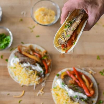 Steak fajita tacos