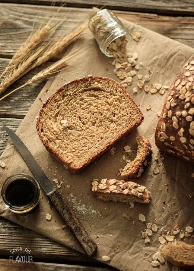 Hearty Multigrain Bread: a healthy loaf full of fiber, protein, and a variety of grains. | www.savortheflavour.com
