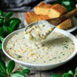 spoonful of sweet corn chowder