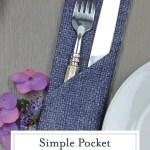 Simple Pocket Napkin Fold Easy Napkin Folding Idea