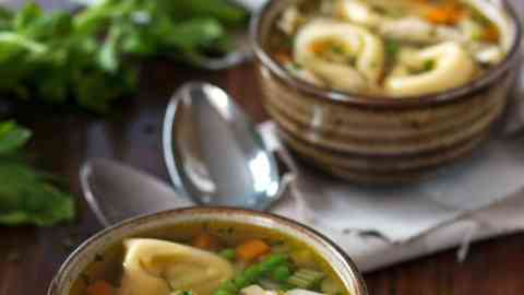 This Chicken Noodle Soup is extra special because it uses tortellini instead of plain old egg noodles! It's such a simple, homemade soup recipe but you will love all the flavors coming together!