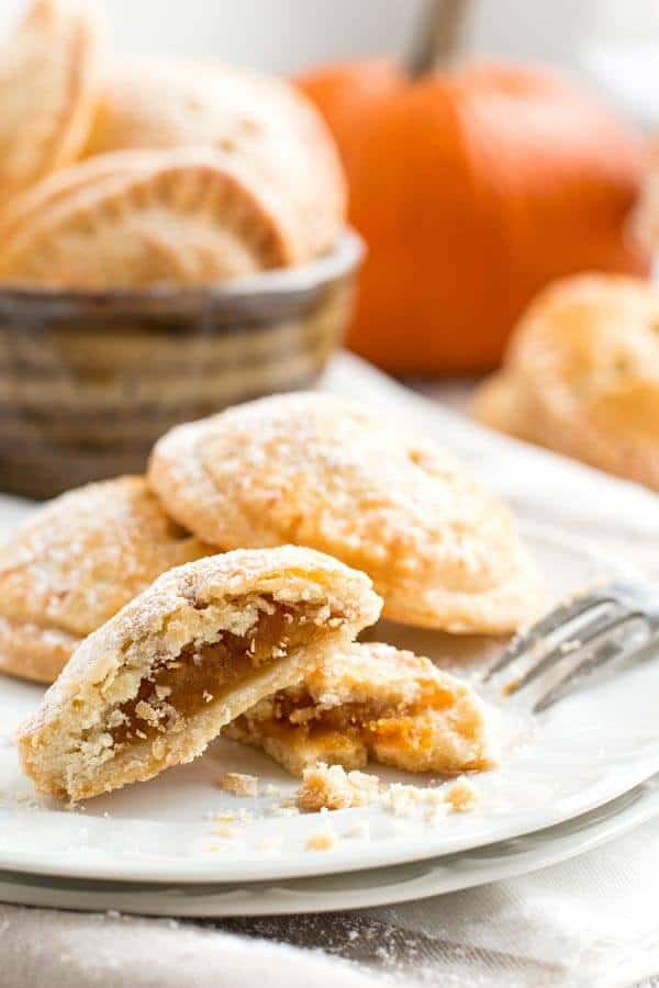plate filled with pumpkin pie cookies